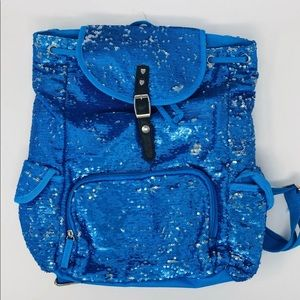 New Blue or Pink Sequin Backpacks 3C4G